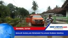 Banjir Susulan Rendam Puluhan Rumah Warga Wonoasri, Jember