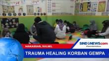 Dinas Sosial Melakukan Pendampingan Trauma Healing Korban Gempa