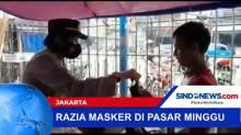 Razia Masker di Pasar Minggu, Jakarta Selatan