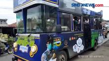 Gunakan Bus Ngumbara, Satgas Covid Lakukan Sosialisasi Prokes