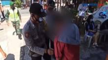 Pemotor Tabrak Petugas saat Operasi Yustisi Prokes