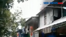 Kebakaran Melanda Permukiman Padat Penduduk di Sunter, Jakarta Utara