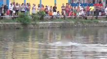 Diduga Ingin Menikam Warga, saat Dikejar Pelaku Lompat ke Kanal Pampang