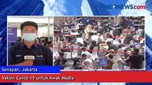 Vaksin Covid-19 untuk Awak Media di Gelora Bung Karno, Senayan