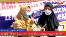 Tenaga Kesehatan RSUD Pariman Gelar Demo Protes Pembayaran Insentif
