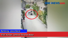 Viral Video Korban Jambret Terseret Motor