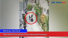Detik-Detik Aksi Penjambretan Ponsel di Bandung