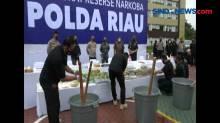 Polda Riau Musnahkan Barang Bukti Narkoba Miliaran Rupiah