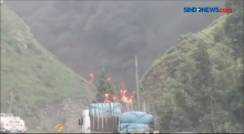Lima Truk Tangki Terbakar di Jalan Tol San Mateo, Peru