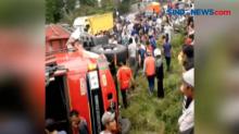 Truk Tabrak Tiga Kendaraan di Wonosobo