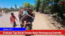 Evakuasi Tiga Bocah Korban Banjir Berlangsung Dramatis