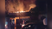 Ditinggal Tarawih, Cafe Terbakar
