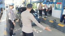 Polisi Sekat Jalur Pemudik di Perbatasan Wilayah Sragen Jateng