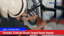 Dramatis, Evakuasi Bocah Terjepit Rantai Sepeda