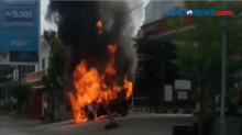 Mobil Pengangkut BBM Terbakar, Pemadaman Api Berlangsung Menegangkan