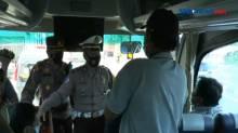 Diputar Balik, Bus Pariwisata Tanpa Stiker Armada Khusus Mudik