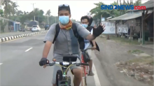 Hindari Penyekatan, 2 Warga Jakarta Nekat Mudik Pakai Sepeda