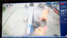 Detik-detik SPBU Terbakar Terekam Kamera Pengawas