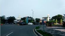 Area Wisata Taman Impian Jaya Ancol Masih Lengang Pagi Ini