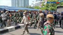 Jelang Unjuk Rasa, TNI-Polri Kepung Gedung KPK