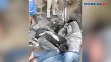 2 Orang Pelaku Pencurian Bermotor Babak Belur Dihajar Warga