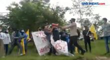 Spanduk Direbut Paksa, Demo Mahasiswa Ricuh