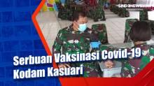 Serbuan Vaksinasi Covid-19 Kodam Kasuari