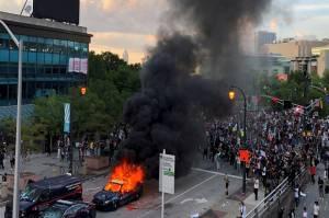 Demo Saya Tak Bisa Bernapas di Seluruh AS, Ini Titik-titik Lokasinya