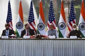 Peringatkan Ancaman China, AS Teken Perjanjian Militer dengan India