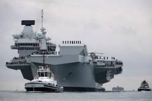 Kapal Perang AS Siap Jadi Bodyguard Kapal Induk Inggris di Laut China Selatan