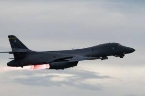 Bomber B-1B Lancer AS dan Jet-jet Tempur NATO Berkeliaran di Langit Estonia
