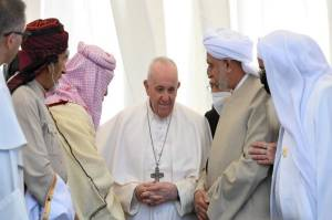 Paus Fransiskus Dengarkan Lantunan Al-Quran di Tempat Lahir Nabi Ibrahim