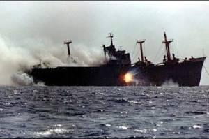 Kapal Tanker Israel Diserang dengan Drone Bunuh Diri
