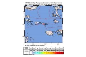 Gempa Magnitudo 4,6 Guncang Sanana Maluku Utara