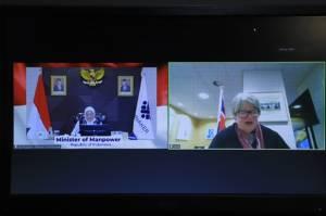Indonesia dan Inggris Bahas Kerja Sama Bilateral Bidang Ketenagakerjaan