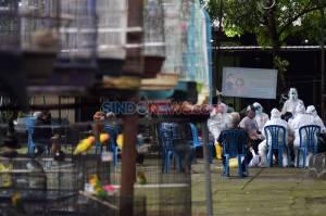 Pedagang dan Pengunjung di Pasar Burung Semarang Jalani Rapid Test