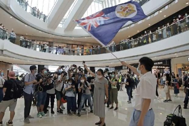 Demonstran Hong Kong Gelar Aksi di Dalam Mall
