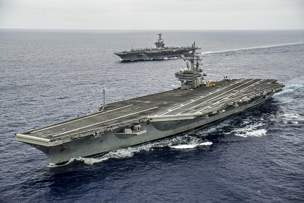 Tegang dengan China, AS Kerahkan 2 Kapal Induk ke Pasifik