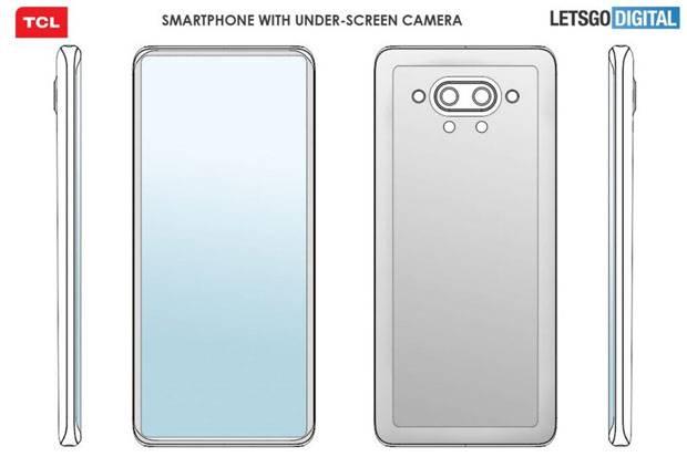 TCL Patenkan Handphone Penuh Gaya dengan Kamera Bersembunyi di dalam Layar
