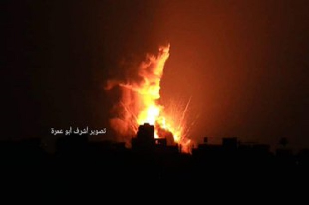 Balas Serangan 2 Roket, Jet-jet Tempur Israel Bombardir Gaza