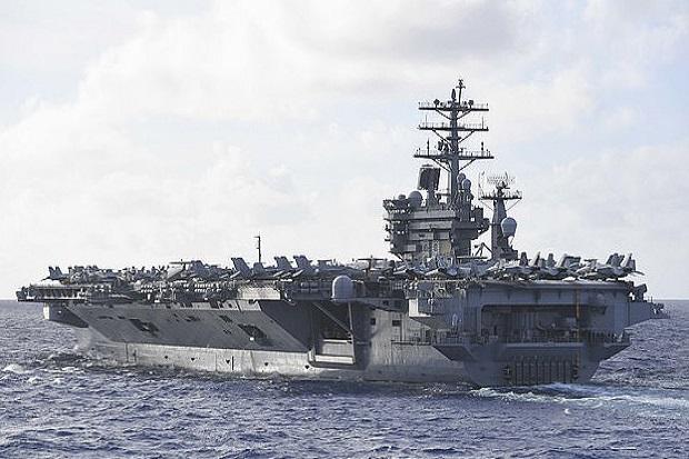 Dua Kapal Induk AS di Laut China Selatan Target Empuk Rudal China