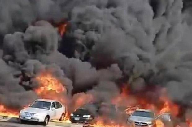 Pipa Minyak Mesir Bocor dan Terbakar, Belasan Orang Terluka
