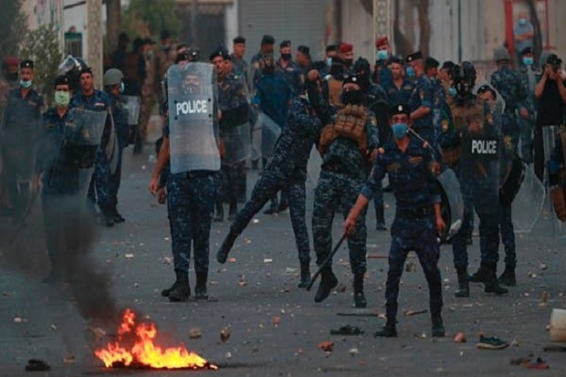 Polisi Irak Gunakan Senapan Berburu untuk Tembaki Demonstran