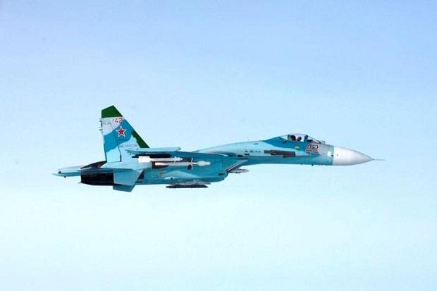 Jet Tempur Su-27 Rusia Cegat 2 Pesawat Pengintai AS di Atas Laut Hitam