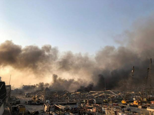 Ledakan Besar Guncang Ibu Kota Lebanon, Banyak Orang Terluka