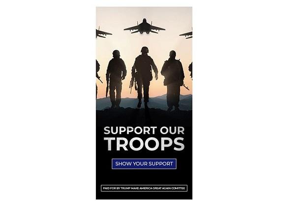 Iklan Kampanye Trump Dukung Pasukan AS, tapi Pakai Gambar Jet Tempur Rusia