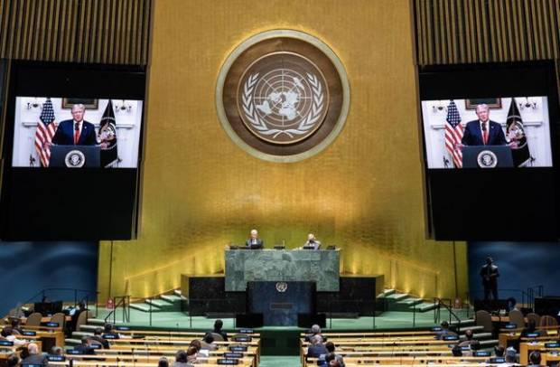 Sidang Umum PBB, Trump Serang China Terkait Covid-19