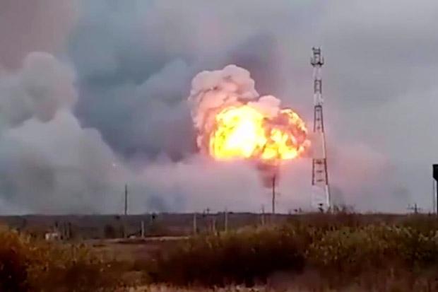 Kebakaran di Depot Amunisi Rusia Picu Evakuasi Massal