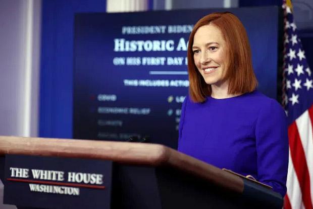 Tampil Perdana, Sekretaris Pers Joe Biden Berhasil Pikat Hati Korps Media