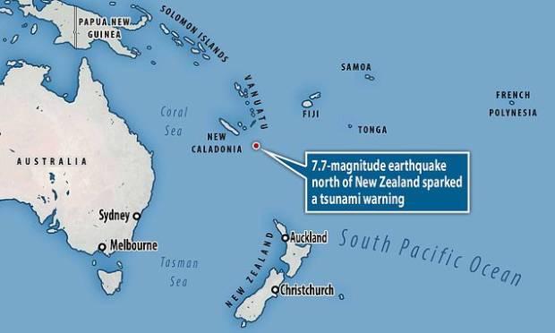 Gempa 7,7 SR Guncang Pasifik, Selandia Baru dan Australia Waspada Tsunami